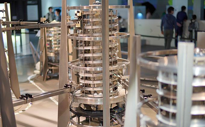 日本科学未来館「インターネットの物理モデル」